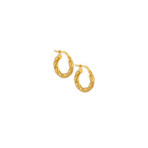 Ασημένιοι επιχρυσωμένοι κρίκοι 925°-6-Κοσμήματα Μαμόγλου Αθήνα