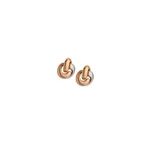 Δίχρωμα σκουλαρίκια Κ14-8-Κοσμήματα Μαμόγλου Αθήνα
