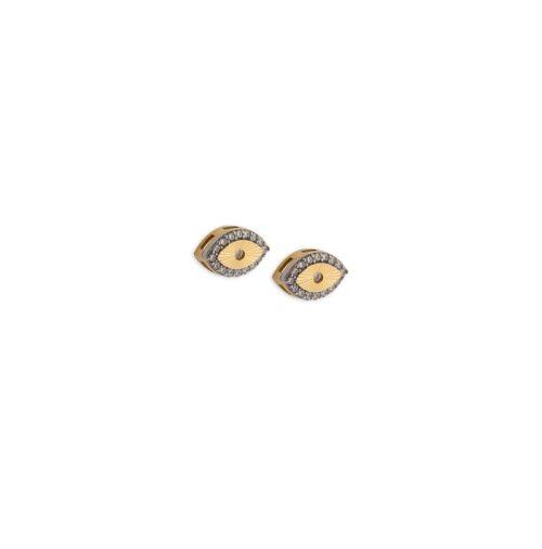 Χρυσά σκουλαρίκια Κ14-10-Κοσμήματα Μαμόγλου Αθήνα