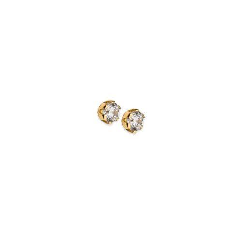 Χρυσά σκουλαρίκια Κ14-2-Κοσμήματα Μαμόγλου Αθήνα