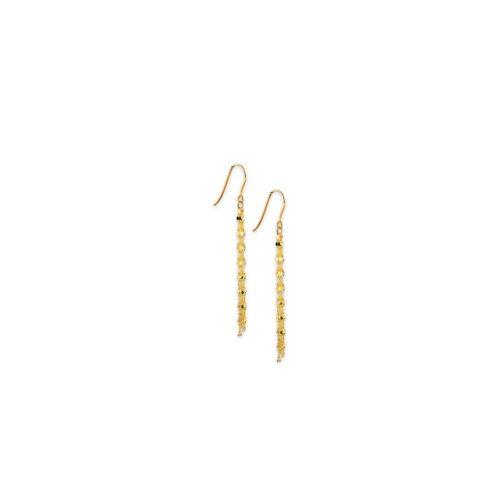 Χρυσά σκουλαρίκια Κ14-3-Κοσμήματα Μαμόγλου Αθήνα