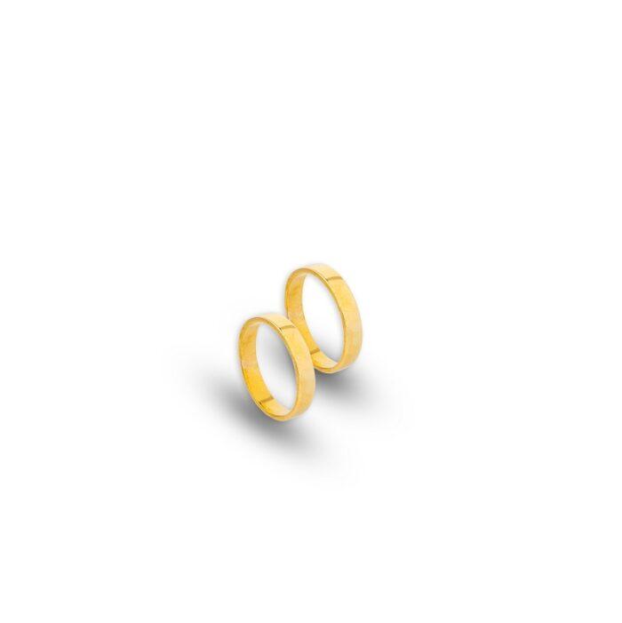 Χρυσές βέρες Κ14 τετράγωνες -92-κοσμήματα μαμόγλου Αθήνα