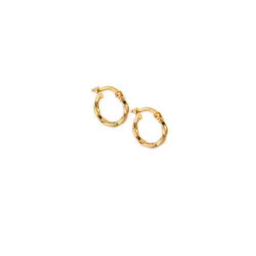 Χρυσοί κρίκοι στριφτοί Κ14-9-Κοσμήματα Μαμόγλου Αθήνα