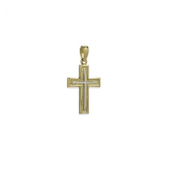 Χρυσός σταυρός Κ14-5-κοσμήματα μαμόγλου Αθήνα