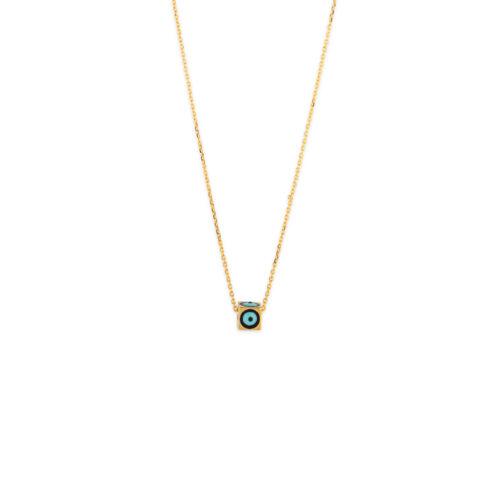 Χρυσό κολιέ Κ14-502-κοσμήματα μαμόγλου Αθήνα