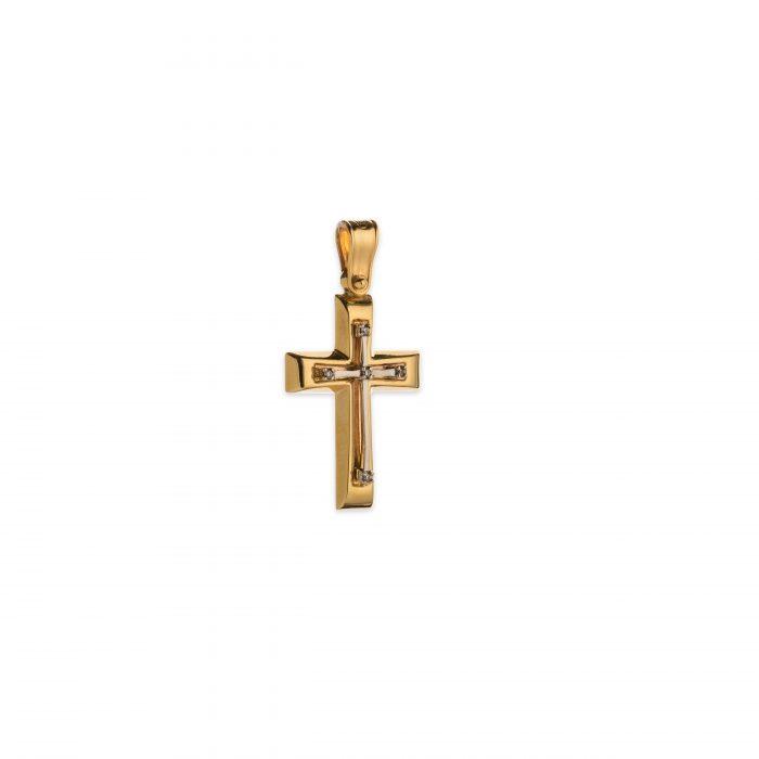 Χρυσός σταυρός Κ14-1004-κοσμήματα μαμόγλου αθήνα
