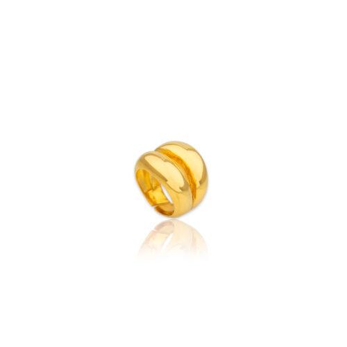 Ασημένιο επιχρυσωμένο δαχτυλίδι -100-κοσμήματα μαμόγλου Αθήνα