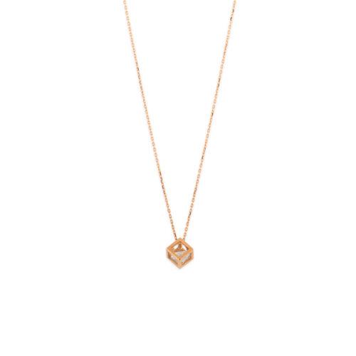 Ροζ χρυσό κολιέ Κ14-103-κοσμήματα μαμόγλου Αθήνα