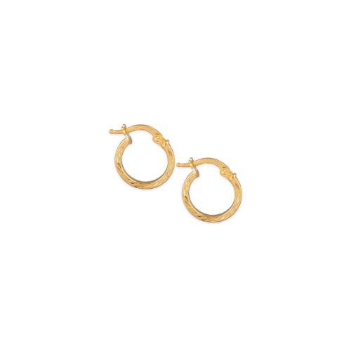 Χρυσοί κρίκοι Κ14-103-Κοσμήματα Μαμόγλου Αθήνα