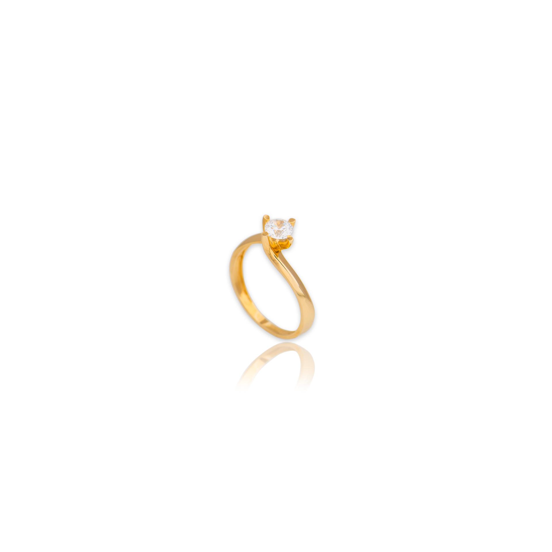 Χρυσό μονόπετρο Κ14-142-κοσμήματα μαμόγλου Αθήνα