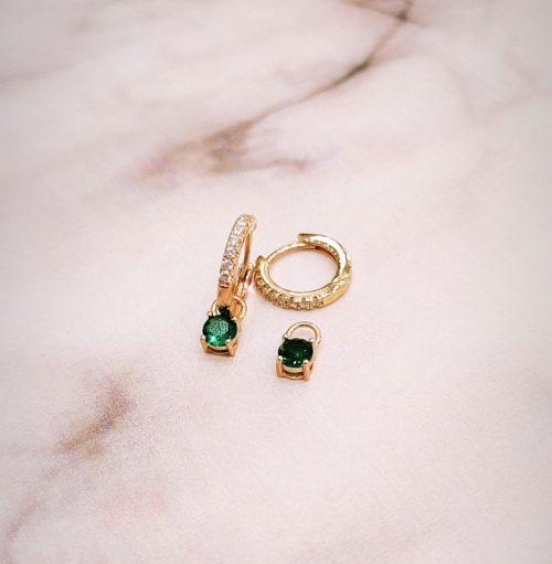 Ροζ επιχρυσωμένα κρικάκια 011-Κοσμήματα Μαμόγλου αθήνα