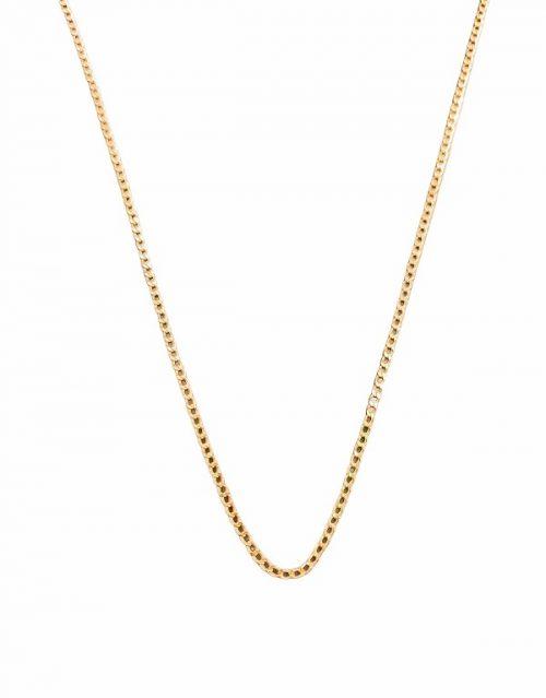 Χρυσή αλυσίδα Κ14 κρίκο κρίκο πλακέ λεπτό κοσμήματα μαμόγλου αθήνα