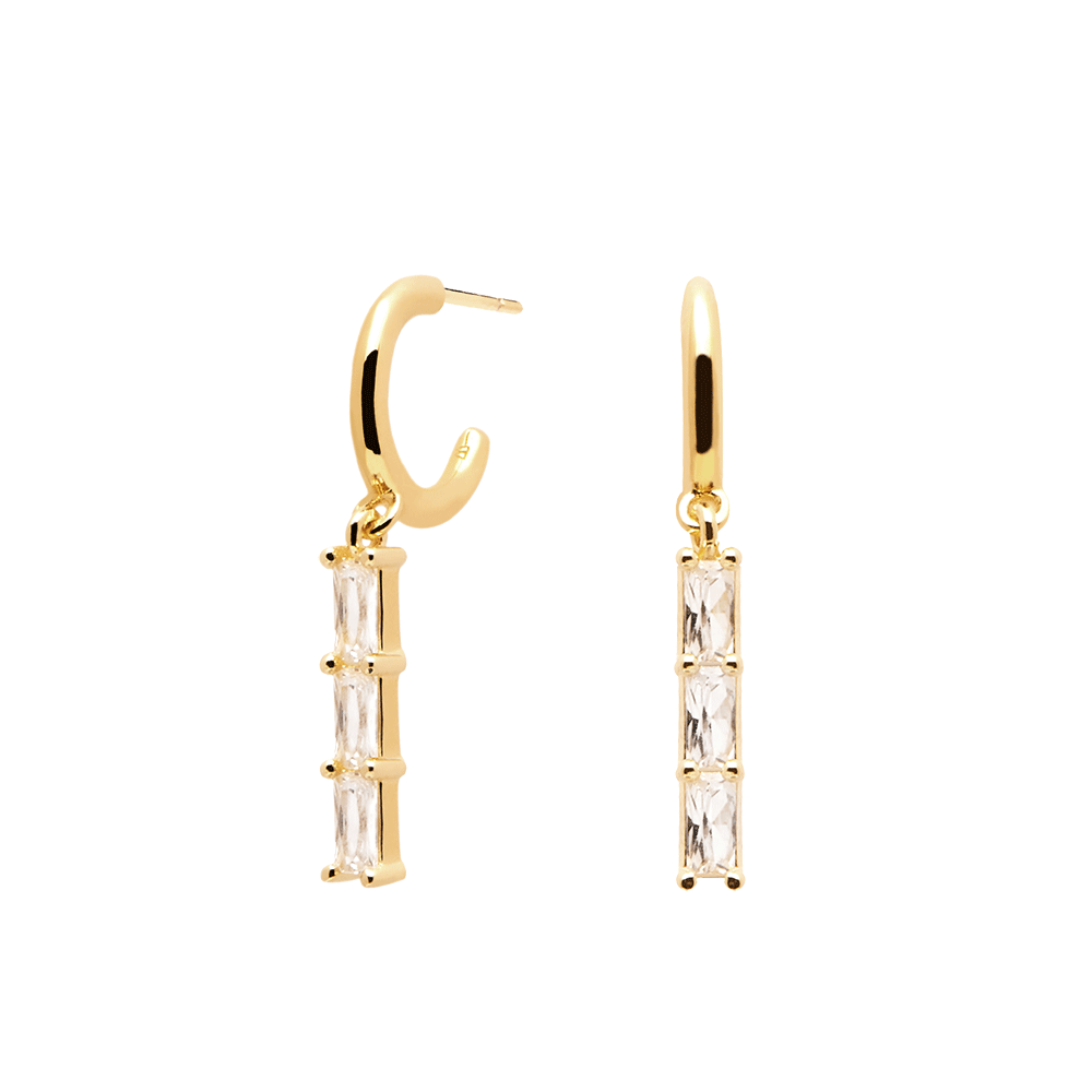 Ασημένια επιχρυσωμένα σκουλαρίκια binti gold-b-κοσμήματα Μαμόγλου Αθήνα