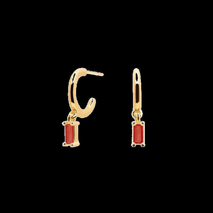 Ασημένια επιχρυσωμένα σκουλαρίκια cherry alia-b-κοσμήματα Μαμόγλου Αθήνα
