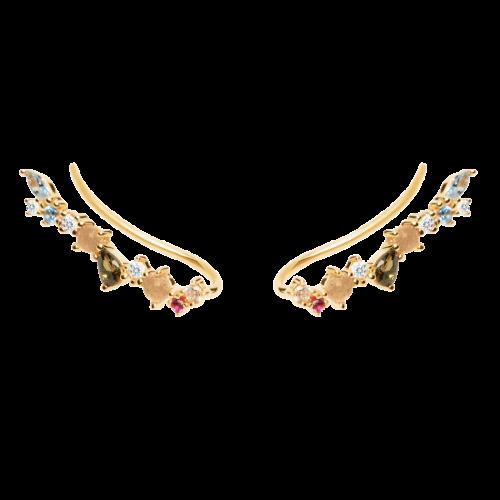 Ασημένια επιχρυσωμένα σκουλαρίκια euphoria gold-b-κοσμήματα Μαμόγλου Αθήνα