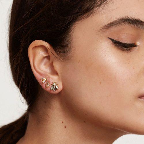 Ασημένια επιχρυσωμένα σκουλαρίκια la bamba set-a-κοσμήματα Μαμόγλου Αθήνα