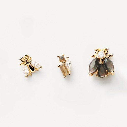 Ασημένια επιχρυσωμένα σκουλαρίκια la bamba set-b-κοσμήματα Μαμόγλου Αθήνα