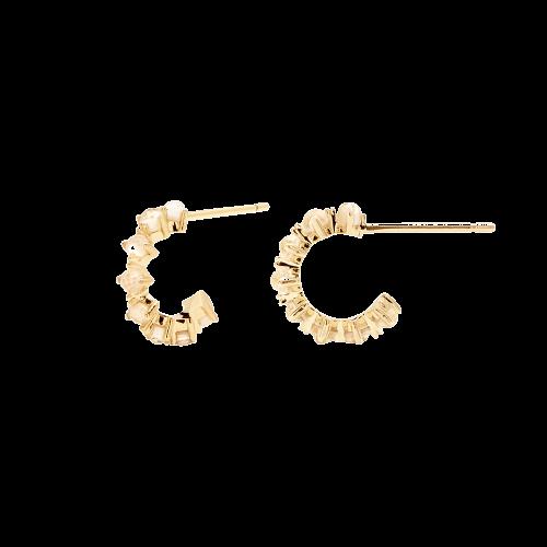 Ασημένια επιχρυσωμένα σκουλαρίκια lady bird-b-κοσμήματα Μαμόγλου Αθήνα