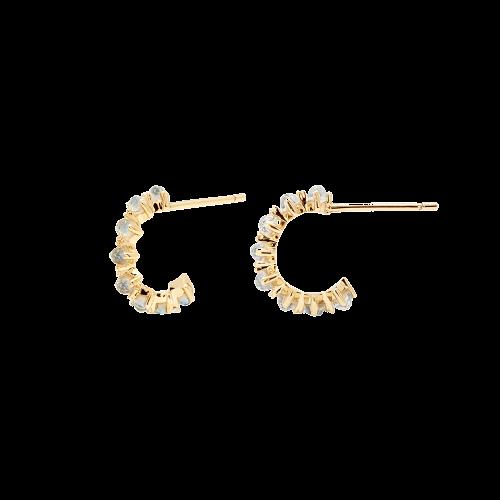 Ασημένια επιχρυσωμένα σκουλαρίκια mint bird-b-κοσμήματα Μαμόγλου Αθήνα