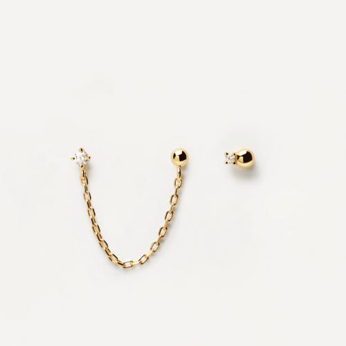 Ασημένια επιχρυσωμένα σκουλαρίκια musketeer gold-b-κοσμήματα Μαμόγλου Αθήνα