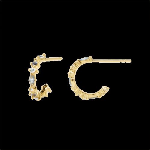 Ασημένια επιχρυσωμένα σκουλαρίκια ombre-b-κοσμήματα Μαμόγλου Αθήνα