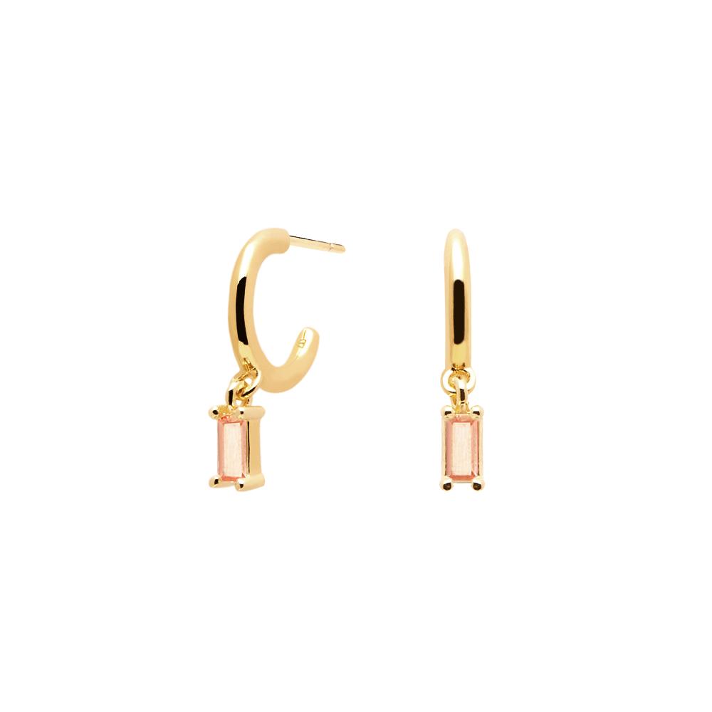Ασημένια επιχρυσωμένα σκουλαρίκια peach alia-b-κοσμήματα Μαμόγλου Αθήνα