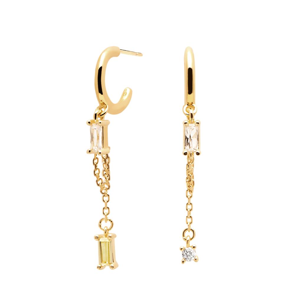 Ασημένια επιχρυσωμένα σκουλαρίκια salma gold-b-κοσμήματα Μαμόγλου Αθήνα