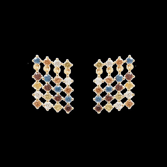 Ασημένια επιχρυσωμένα σκουλαρίκια willow gold-b-κοσμήματα Μαμόγλου Αθήνα