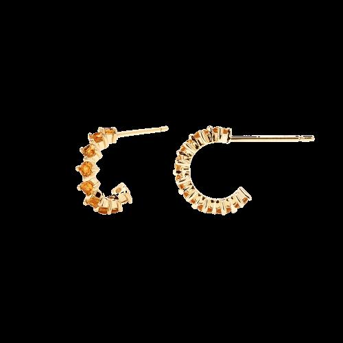 Ασημένια επιχρυσωμένα σκουλαρίκια yellow bird-b-κοσμήματα Μαμόγλου Αθήνα