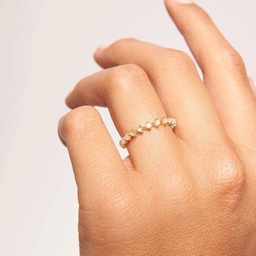 Ασημένιο επιχρυσωμένο βεράκι lady bird ring-b-κοσμήματα Μαμόγλου