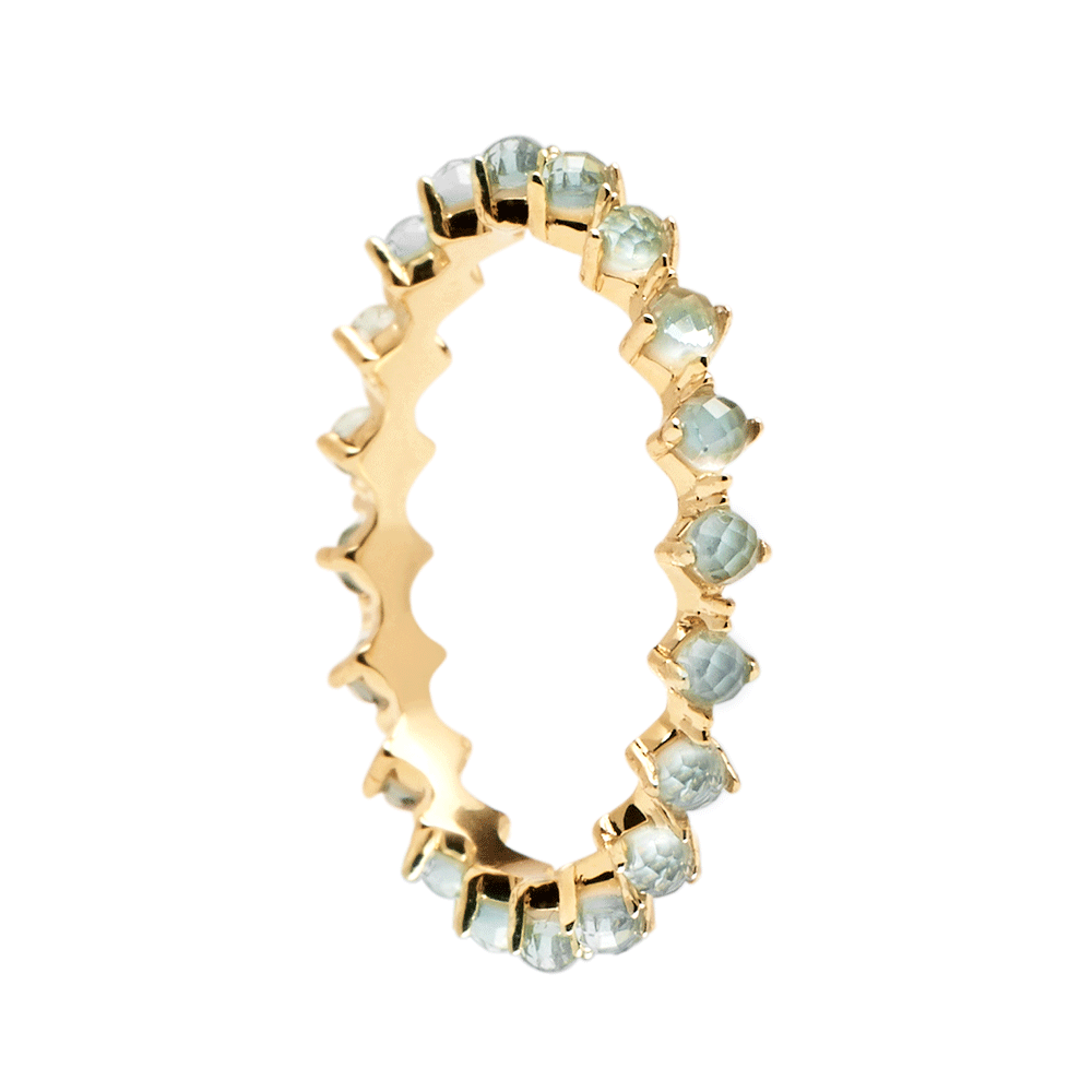 Ασημένιο επιχρυσωμένο βεράκι mint bird ring-a-κοσμήματα Μαμόγλου