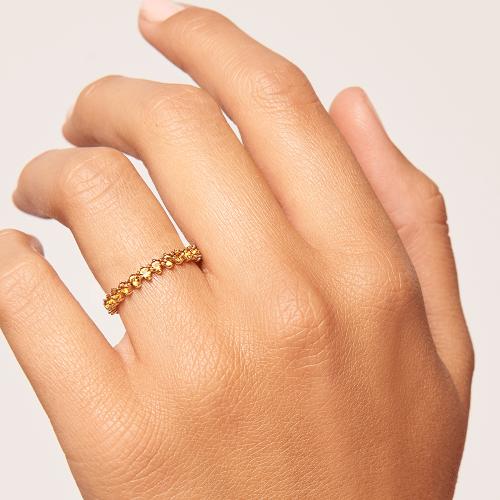Ασημένιο επιχρυσωμένο βεράκι yellow bird ring-b -κοσμήματα Μαμόγλου