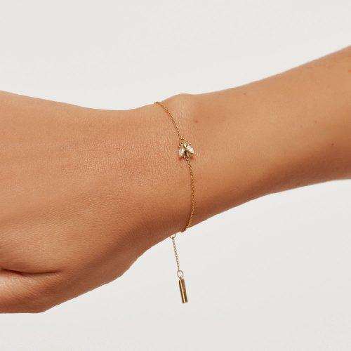Ασημένιο επιχρυσωμένο βραχιόλι buzz gold-b-κοσμήματα Μαμόγλου Αθήνα