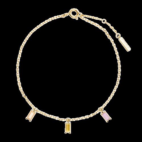 Ασημένιο επιχρυσωμένο βραχιόλι elija gold-a-κοσμήματα Μαμόγλου Αθήνα