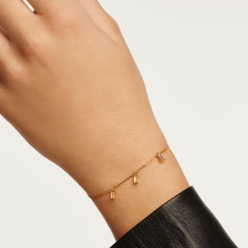Ασημένιο επιχρυσωμένο βραχιόλι elija gold-b-κοσμήματα Μαμόγλου Αθήνα