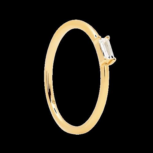 Ασημένιο επιχρυσωμένο δαχτυλίδι amani ring -a-κοσμήματα Μαμόγλου