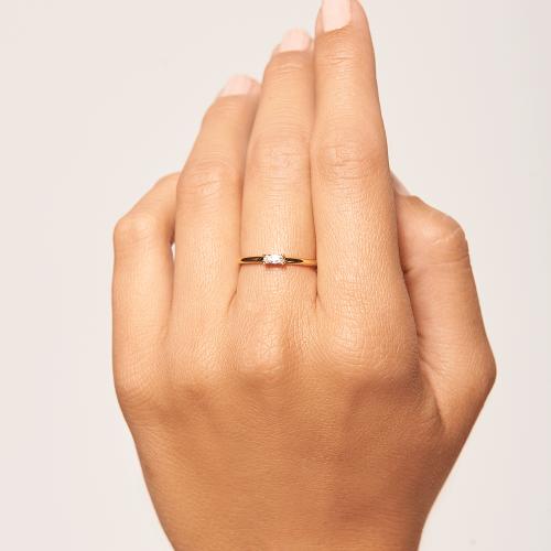 Ασημένιο επιχρυσωμένο δαχτυλίδι amani ring -b-κοσμήματα Μαμόγλου
