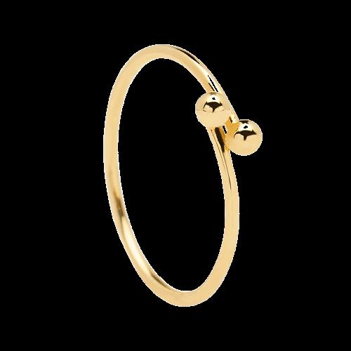 Ασημένιο επιχρυσωμένο δαχτυλίδι aura gold ring -a-κοσμήματα Μαμόγλου