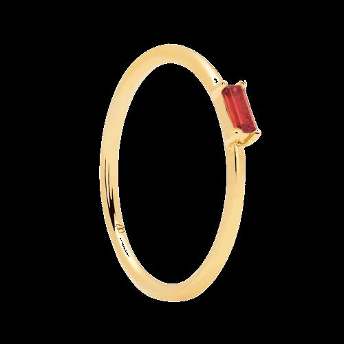 Ασημένιο επιχρυσωμένο δαχτυλίδι cherry amani ring -a-κοσμήματα Μαμόγλου