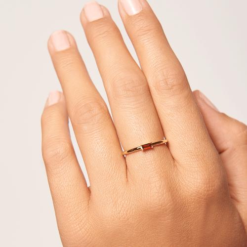 Ασημένιο επιχρυσωμένο δαχτυλίδι cherry amani ring -b-κοσμήματα Μαμόγλου
