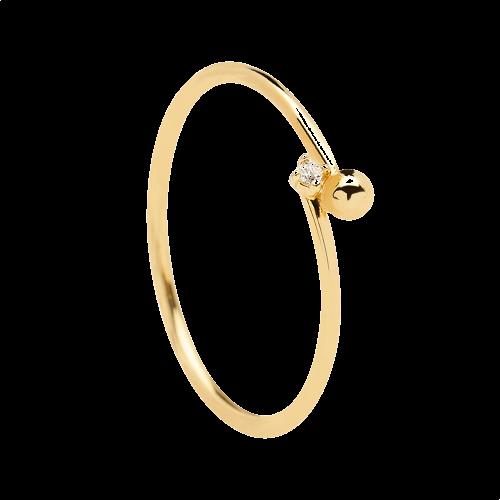 Ασημένιο επιχρυσωμένο δαχτυλίδι essentia ring -a-κοσμήματα Μαμόγλου