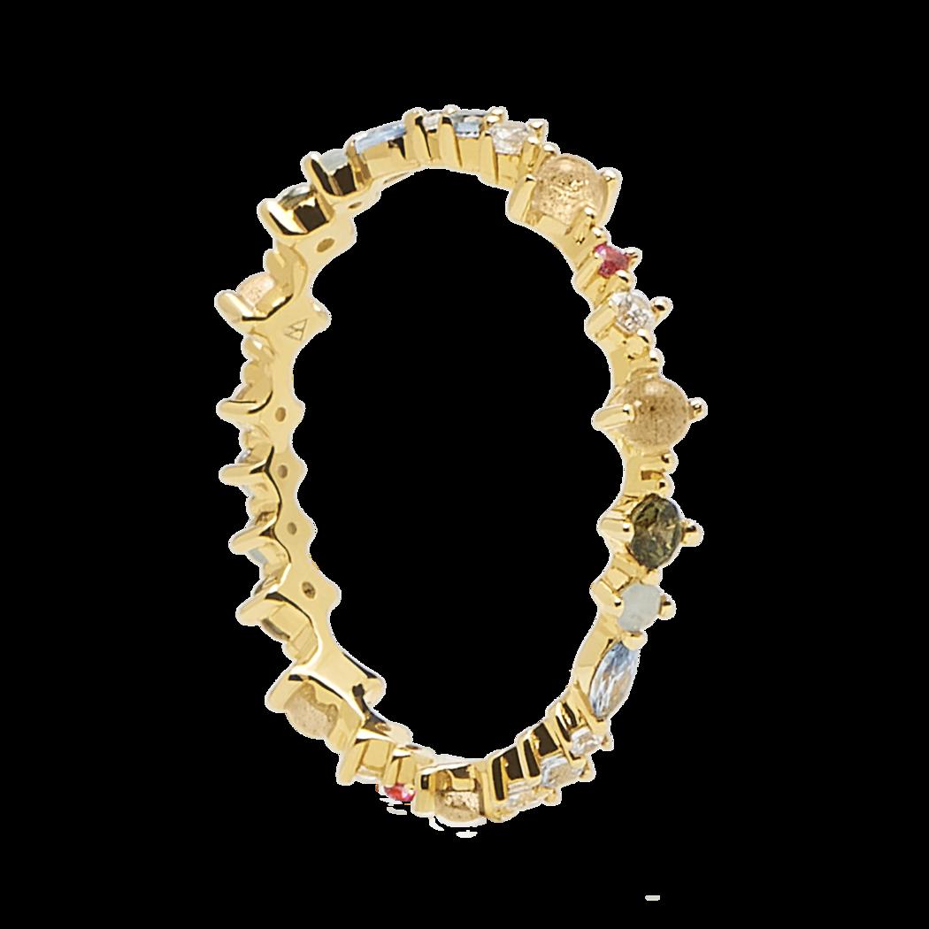 Ασημένιο επιχρυσωμένο δαχτυλίδι papillon ring -a-κοσμήματα Μαμόγλου