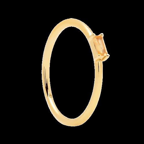Ασημένιο επιχρυσωμένο δαχτυλίδι peach amani ring -a-κοσμήματα Μαμόγλου