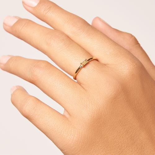 Ασημένιο επιχρυσωμένο δαχτυλίδι peach amani ring -b-κοσμήματα Μαμόγλου