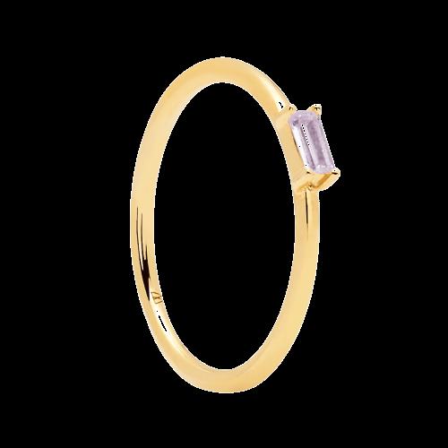 Ασημένιο επιχρυσωμένο δαχτυλίδι purple amani ring -a-κοσμήματα Μαμόγλου