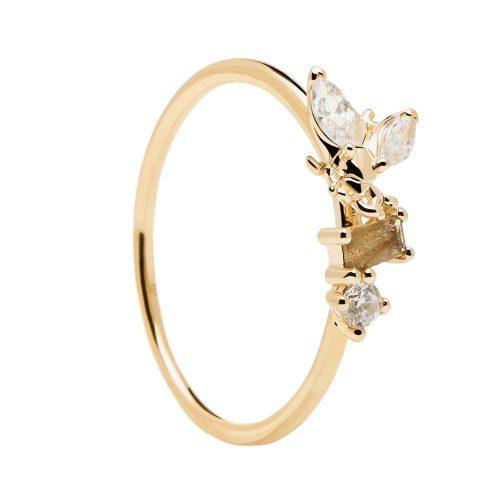 Ασημένιο επιχρυσωμένο δαχτυλίδι revery gold ring -a-κοσμήματα Μαμόγλου