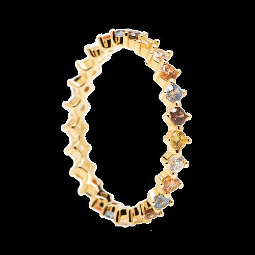 Ασημένιο επιχρυσωμένο δαχτυλίδι sage gold ring -a-κοσμήματα Μαμόγλου (2)