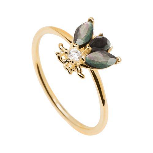 Ασημένιο επιχρυσωμένο δαχτυλίδι zaza gold ring -a-κοσμήματα Μαμόγλου