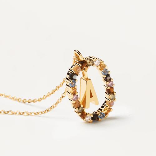 Ασημένιο επιχρυσωμένο κολιέ-Α-κοσμήματα Μαμόγλου