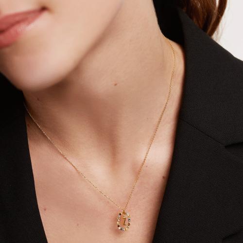 Ασημένιο επιχρυσωμένο κολιέ-Ζζ-κοσμήματα Μαμόγλου